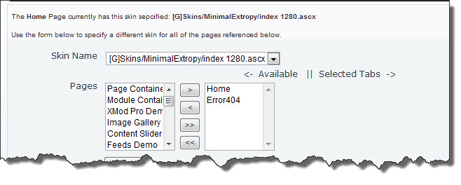 MooreCreative's DNN Enhancement with XMod Pro, the Page Skin/Container Manager